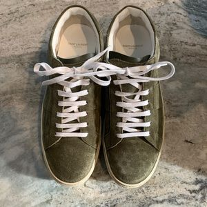 Saint Laurent Suede Low Top Sneakers - Size 12